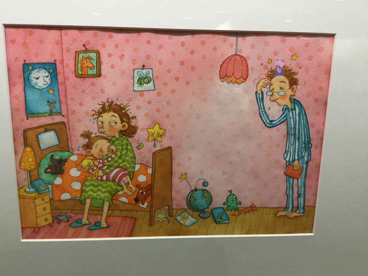 Mervi Lindmanin akvarelli kirjasta Siiri ja kadonnut tähti
